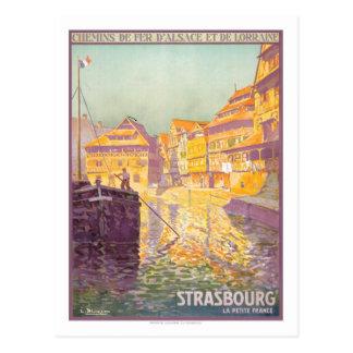 Poster del viaje del vintage, Estrasburgo Tarjetas Postales