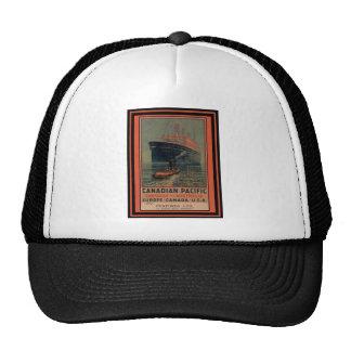 Poster del viaje del vintage gorras