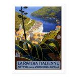 Poster del viaje del vintage, italiano Riviera Tarjetas Postales