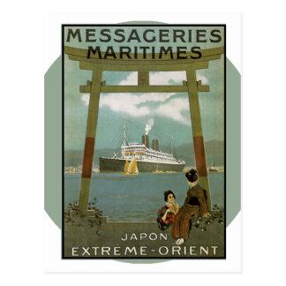 Poster del viaje del vintage - Japón Tarjetas Postales