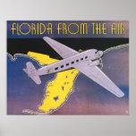 Poster del viaje del vintage, la Florida del aerop