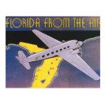 Poster del viaje del vintage, la Florida del aerop Tarjeta Postal