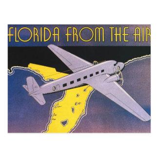 Poster del viaje del vintage la Florida del aerop Tarjeta Postal