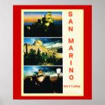 Poster del viaje del vintage, la República de San