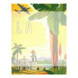 Poster del viaje del vintage, Los Ángeles, Califor Tarjetones