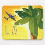 Poster del viaje del vintage, Los Ángeles, Califor Alfombrilla De Ratones