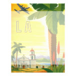 Poster del viaje del vintage, Los Ángeles, Tarjetones