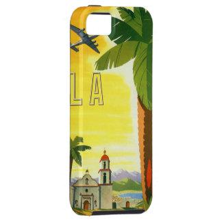 Poster del viaje del vintage, Los Ángeles, iPhone 5 Protectores