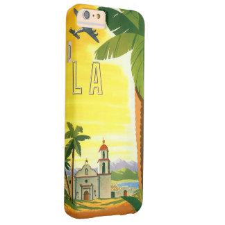 Poster del viaje del vintage, Los Ángeles, Funda Para iPhone 6 Plus Barely There