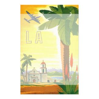 Poster del viaje del vintage, Los Ángeles, Papeleria