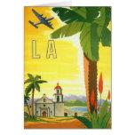 Poster del viaje del vintage, Los Ángeles, Tarjeta De Felicitación