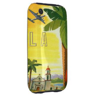 Poster del viaje del vintage, Los Ángeles, Tough iPhone 3 Funda