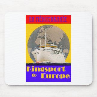 Poster del viaje del vintage - mediterráneo mouse pads