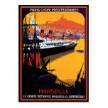 Poster del viaje del vintage: Mediterráneo Postales