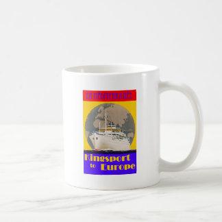 Poster del viaje del vintage - mediterráneo taza