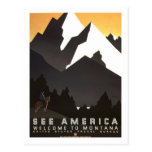 Poster del viaje del vintage, Montana Postal