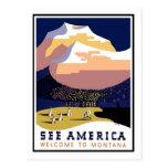 Poster del viaje del vintage, Montana Postales