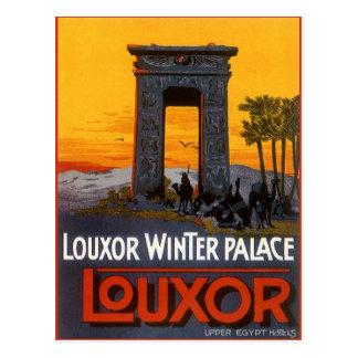 Poster del viaje del vintage, palacio del invierno tarjeta postal