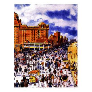 Poster del viaje del vintage para la postal de