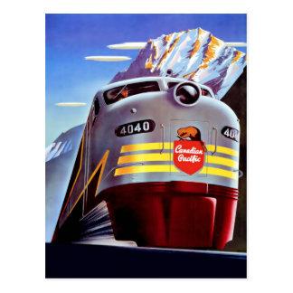 Poster del viaje del vintage para la postal de Can