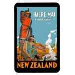 Poster del viaje del vintage para Nueva Zelanda Iman Flexible