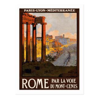 Poster del viaje del vintage, Roma Postal