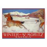 Poster del viaje del vintage, tarjeta de Navidad