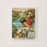 Poster del viaje del vintage, Thermes de Cauterets Puzzle Con Fotos