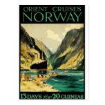 Poster del viaje del vintage: Travesías de Oriente Postal