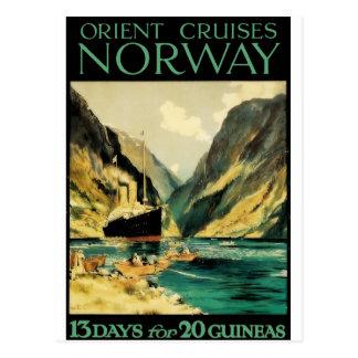 Poster del viaje del vintage: Travesías de Oriente Tarjetas Postales