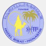 Poster del viaje del vintage, Túnez, Tunisie, Áfri Etiquetas