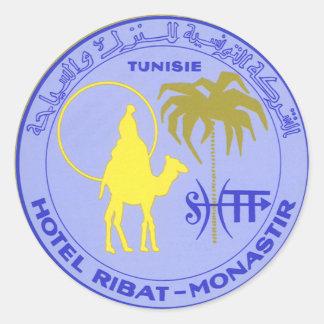 Poster del viaje del vintage Túnez Tunisie Áfri Etiquetas