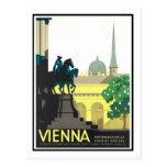 Poster del viaje del vintage, Viena Tarjeta Postal