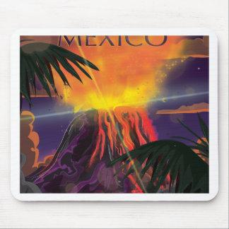 Poster del viaje del volcán de México Mousepad