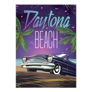 Poster del viaje en coche del vintage de Daytona Fotografías