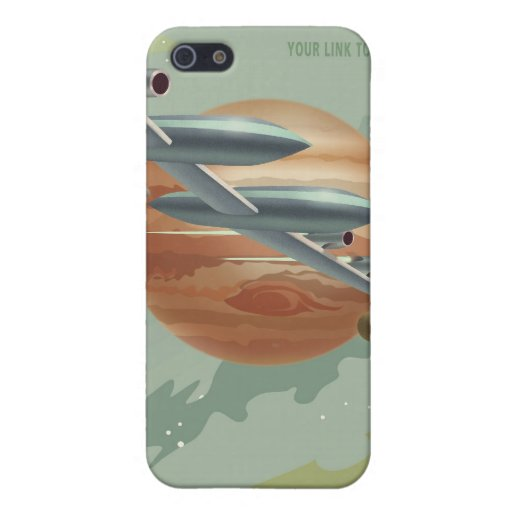 Poster del viaje espacial a Júpiter iPhone 5 Carcasa
