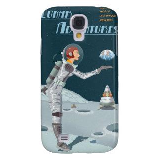 Poster del viaje espacial a la luna funda samsung s4