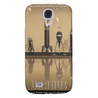 Poster del viaje espacial a Urano Carcasa Para Galaxy S4