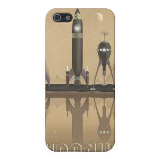 Poster del viaje espacial a Urano iPhone 5 Fundas