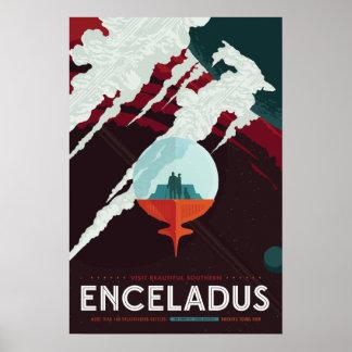 Poster del viaje espacial de Enceladus Póster