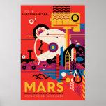 Poster del viaje espacial de Marte