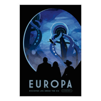 Poster del viaje espacial del Europa