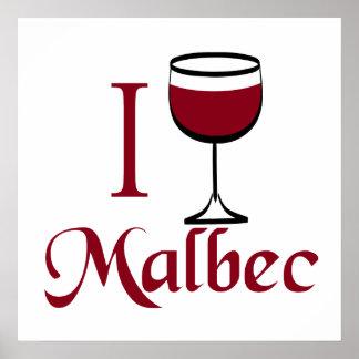 Poster del vino del Malbec