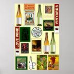 Poster del vino, vino del amor
