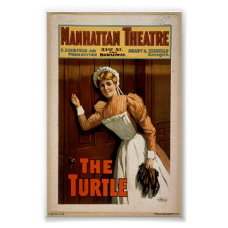 "Poster del vintage 1900's ""de la tortuga"""