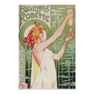 Poster del vintage 1900's del ajenjo