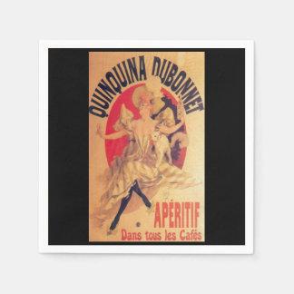 poster del vintage, art déco, nouveau del arte, servilletas desechables