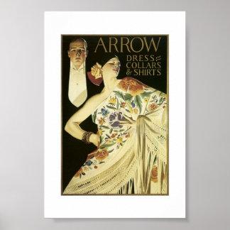 Poster del vintage - camisetas de la flecha