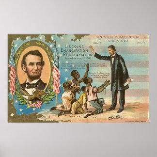 Poster del vintage de Abraham Lincoln Póster