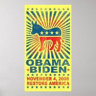 Poster del vintage de América del restablecimiento Póster